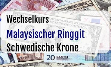 Malaysischer Ringgit in Schwedische Krone