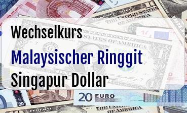 Malaysischer Ringgit in Singapur Dollar
