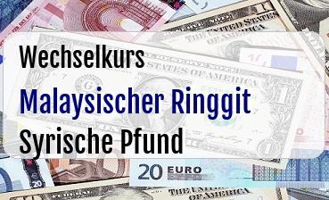 Malaysischer Ringgit in Syrische Pfund