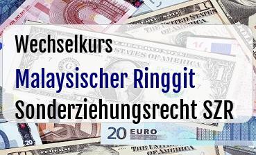 Malaysischer Ringgit in Sonderziehungsrecht SZR