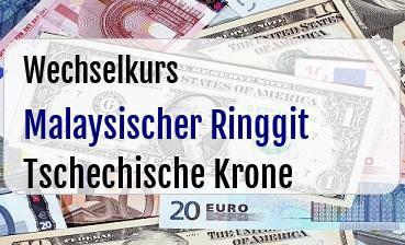 Malaysischer Ringgit in Tschechische Krone