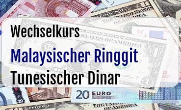 Malaysischer Ringgit in Tunesischer Dinar
