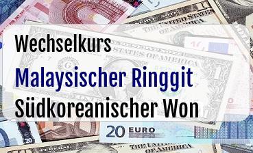 Malaysischer Ringgit in Südkoreanischer Won