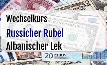 Russicher Rubel in Albanischer Lek
