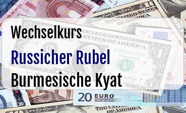 Russicher Rubel in Burmesische Kyat