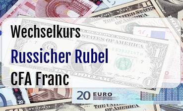 Russicher Rubel in CFA Franc