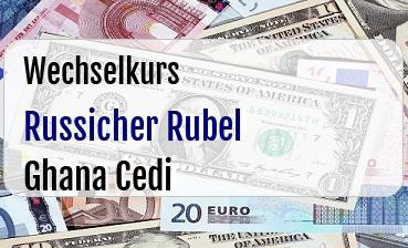 Russicher Rubel in Ghana Cedi