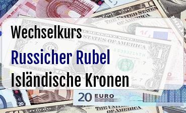 Russicher Rubel in Isländische Kronen