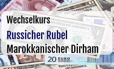 Russicher Rubel in Marokkanischer Dirham