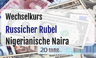 Russicher Rubel in Nigerianische Naira