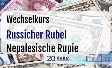 Russicher Rubel in Nepalesische Rupie
