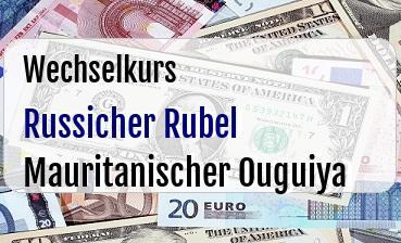 Russicher Rubel in Mauritanischer Ouguiya
