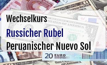Russicher Rubel in Peruanischer Nuevo Sol