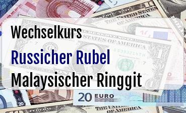 Russicher Rubel in Malaysischer Ringgit