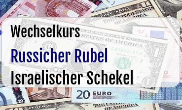 Russicher Rubel in Israelischer Schekel