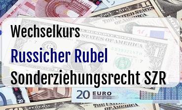Russicher Rubel in Sonderziehungsrecht SZR