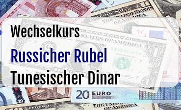 Russicher Rubel in Tunesischer Dinar