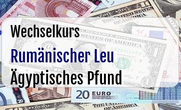 Rumänischer Leu in Ägyptisches Pfund