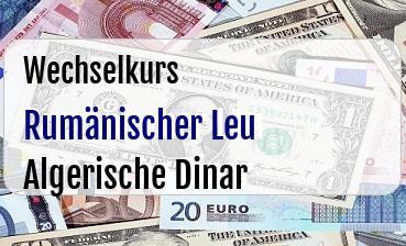 Rumänischer Leu in Algerische Dinar