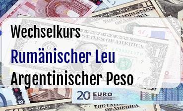 Rumänischer Leu in Argentinischer Peso