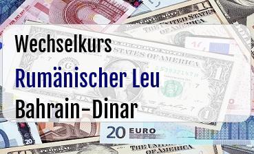 Rumänischer Leu in Bahrain-Dinar