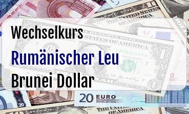 Rumänischer Leu in Brunei Dollar