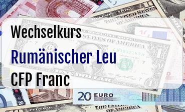 Rumänischer Leu in CFP Franc