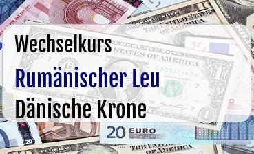 Rumänischer Leu in Dänische Krone
