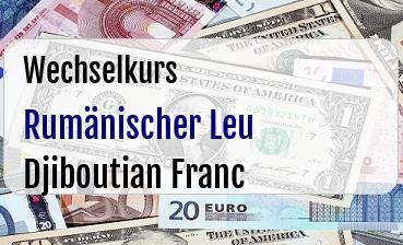 Rumänischer Leu in Djiboutian Franc