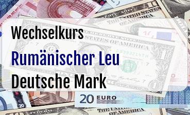 Rumänischer Leu in Deutsche Mark