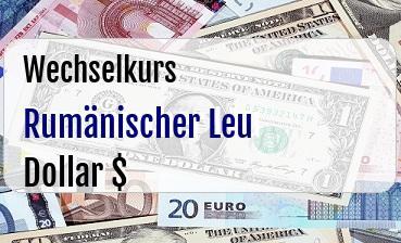 Rumänischer Leu in US Dollar