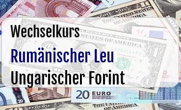 Rumänischer Leu in Ungarischer Forint