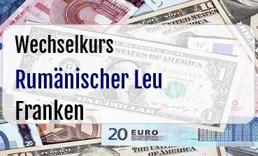 Rumänischer Leu in Schweizer Franken