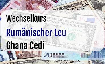 Rumänischer Leu in Ghana Cedi