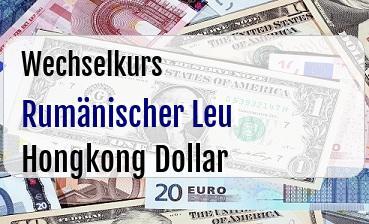 Rumänischer Leu in Hongkong Dollar