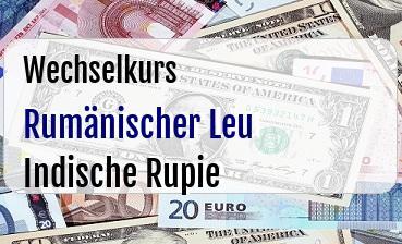 Rumänischer Leu in Indische Rupie