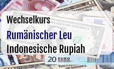 Rumänischer Leu in Indonesische Rupiah