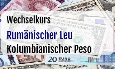 Rumänischer Leu in Kolumbianischer Peso