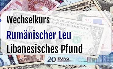 Rumänischer Leu in Libanesisches Pfund
