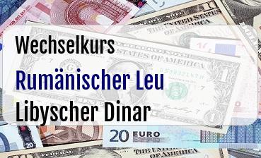 Rumänischer Leu in Libyscher Dinar