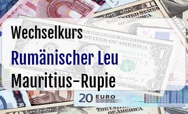 Rumänischer Leu in Mauritius-Rupie