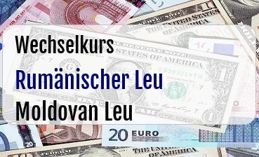 Rumänischer Leu in Moldovan Leu