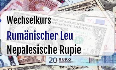 Rumänischer Leu in Nepalesische Rupie