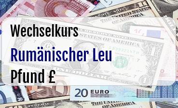Rumänischer Leu in Britische Pfund