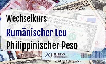 Rumänischer Leu in Philippinischer Peso