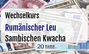 Rumänischer Leu in Sambischen Kwacha