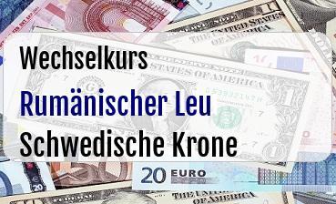 Rumänischer Leu in Schwedische Krone