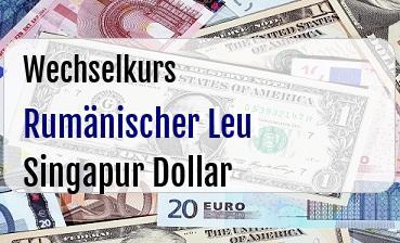 Rumänischer Leu in Singapur Dollar