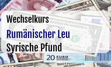 Rumänischer Leu in Syrische Pfund