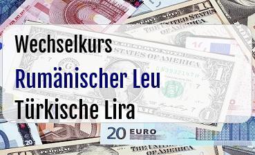 Rumänischer Leu in Türkische Lira